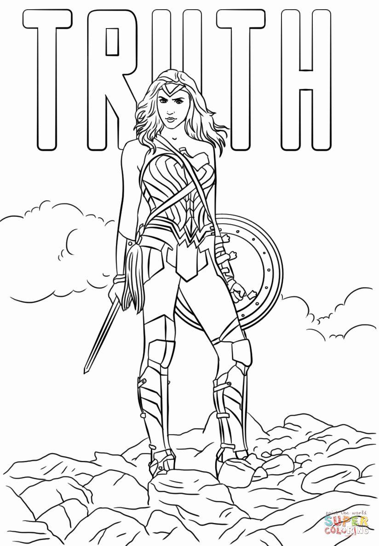 Wonder Woman Coloring Page Luxury Wonder Woman Truth Coloring Page In 2020 Superhero Coloring Pages Love Coloring Pages Coloring Books