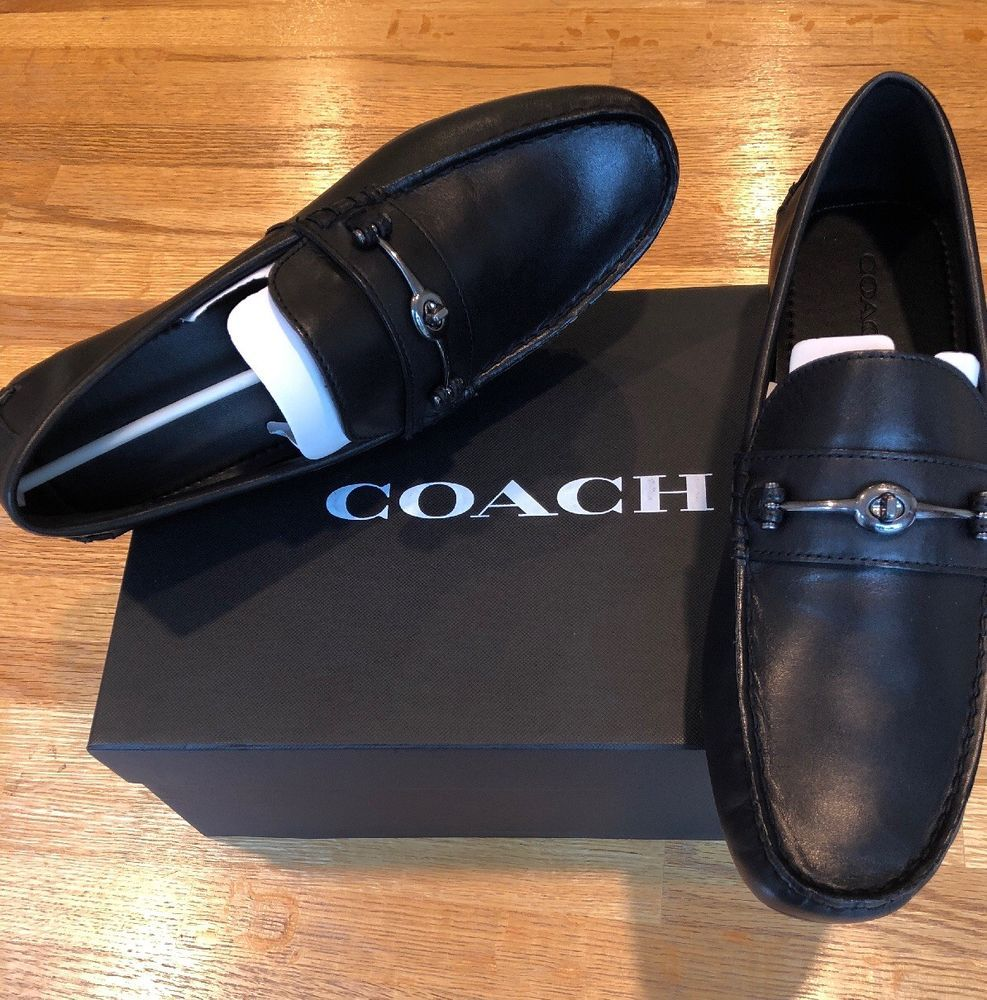 84a2dcafa8b Coach NEW IN BOX Men s Crosby Turnlock Drivers Black 10.5D! PRISTINE!   fashion  clothing  shoes  accessories  mensshoes  casualshoes  ad (ebay  link)