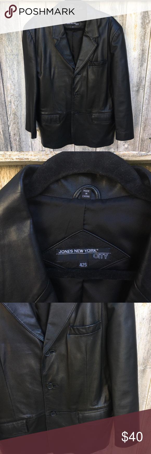 Black Leather Blazer Jacket Leather Blazer Leather Blazer Jacket Black Leather Blazer