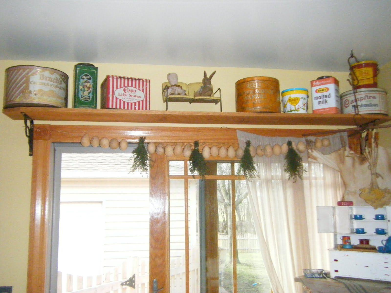 shelf idea for over the patio doors