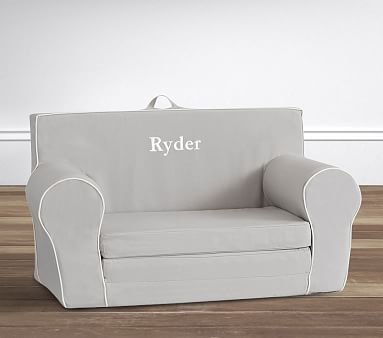 Gray With White Piping Anywhere Sofa Lounger 174 Lounger