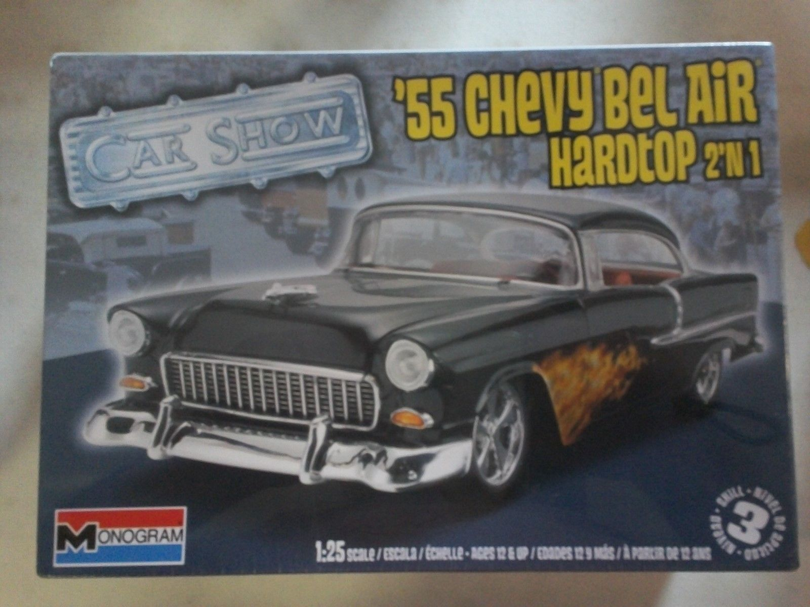 Classic 2581 Model Kit 55 Chevy Bel Air Hardtop 2 In 1 New
