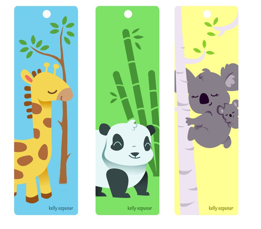 Animal bookmarks by on deviantart for Bookmark printing template
