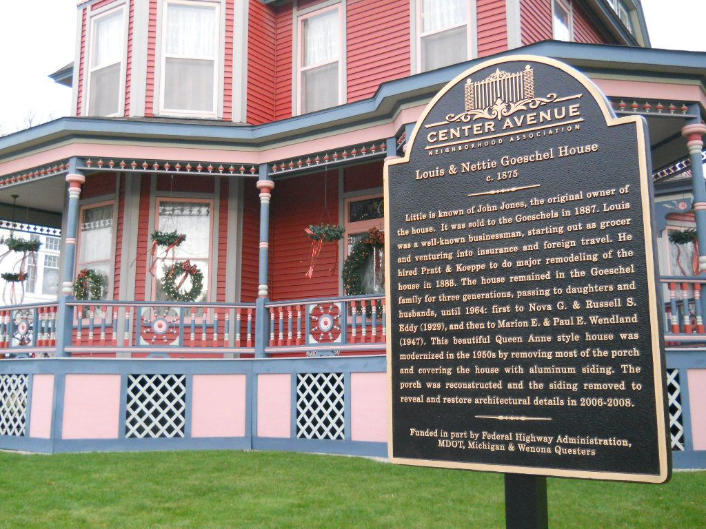 Louis And Nettie Goeschel House Built In 1875 On Historic Center Avenue In Bay City Michigan Bay City Michigan Bay City Michigan Water