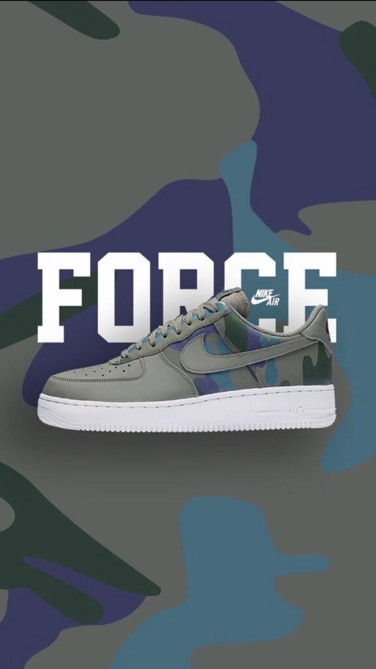 Nike Air Force 1 black suede with camo check sign ✨   Nike