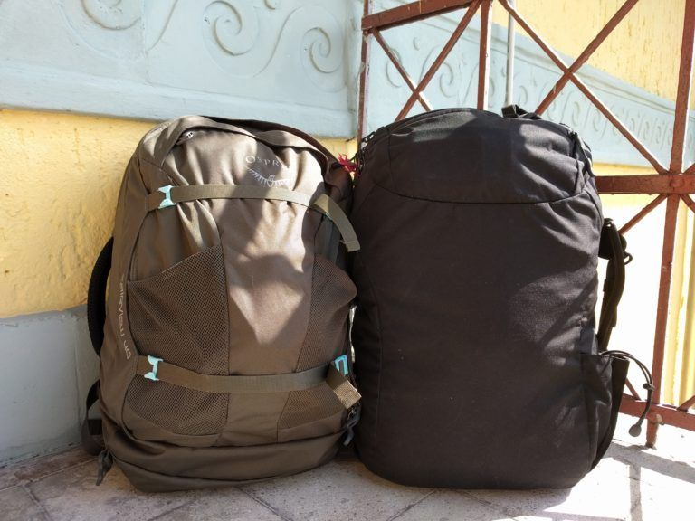 Tout notre équipement voyage tient dans ces deux sacs à dos #Voyagedrawing