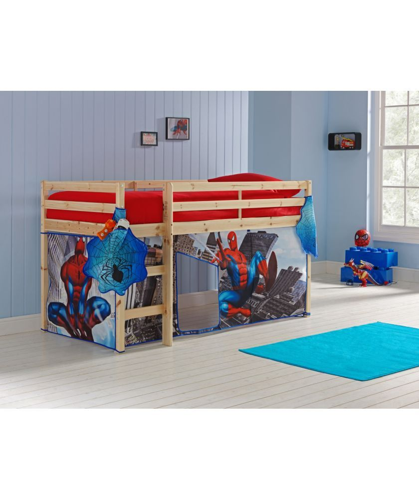 Buy Pine Shorty Mid Sleeper Bed u0026 Spider-Man Tent at Argos.co.  sc 1 st  Pinterest : avengers bed tent - memphite.com