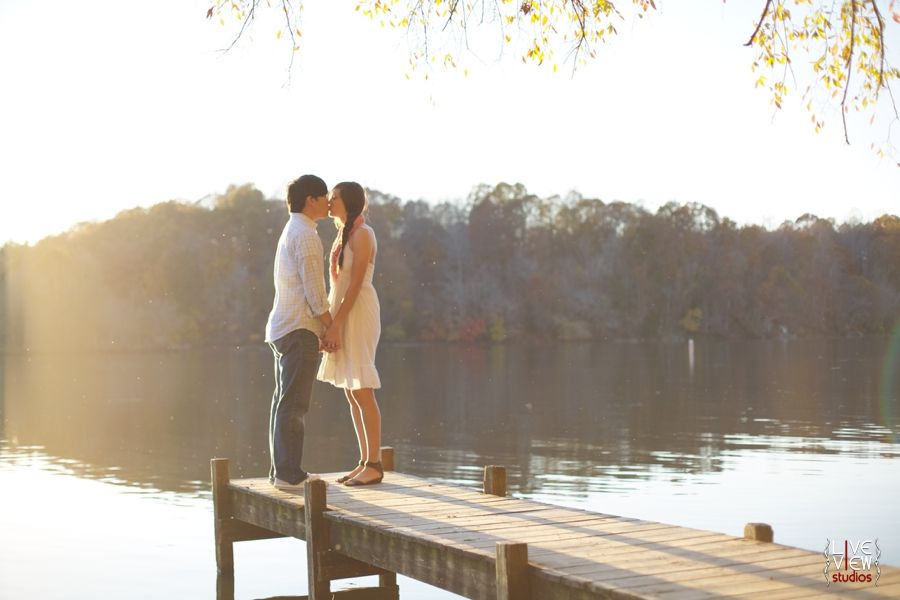 Vintage Wedding Dresses Raleigh Nc: A Romantic Kiss By The Waterfront