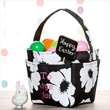 Thirty one gifts gift gallery creative caddy in white poppy thirty one creative caddy easter basket thirty one black and white poppies negle Image collections