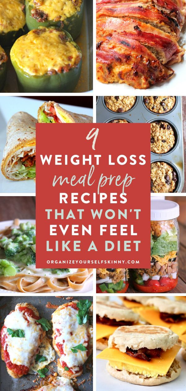 9 Healthy Meal Prep Recipes That Won't Even Feel Like Dieting - Meal Prep For Weight Loss #mealprepplans