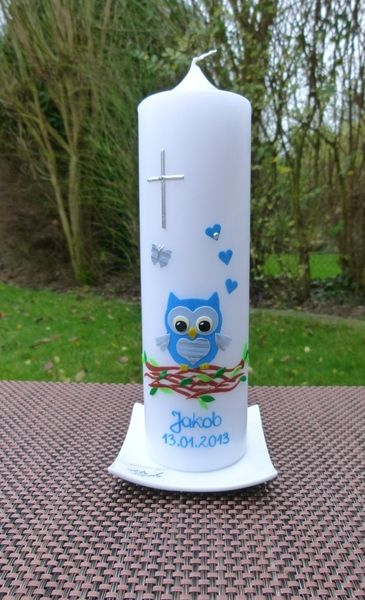 TAUFKERZE   Taufe   Baptism candle, Candles und Pillar candles