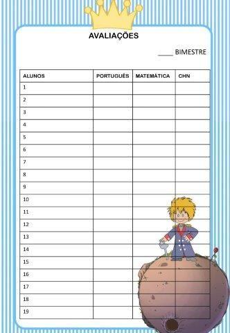 Caderno De Planejamento 2018 Para Imprimir Do Pequeno Principe