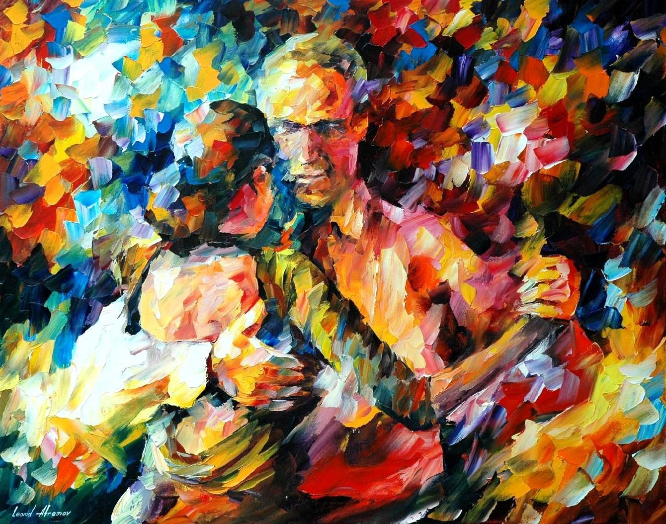 Tango Of Love Palette Knife Oil Painting On Canvas By Leonid Afremov Size 30 X24 Oil Painting On Canvas Painting Art
