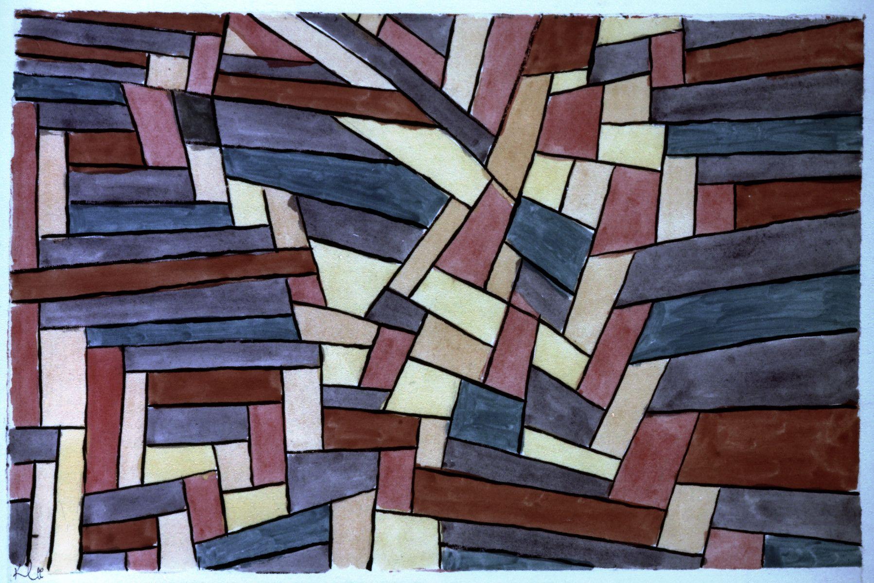 Paul Klee Wallflower Detail Keilrahmen-Bild Leinwand abstrakt Klassiker