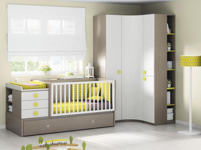 Mueble de Bebé Cuna Convertible en Cama Modelo Composición 35 ...