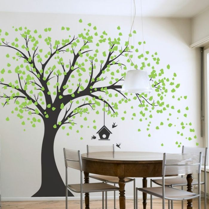 stickers arbre chambre de s jour decoration murale artisanat 2016 pinterest magic. Black Bedroom Furniture Sets. Home Design Ideas