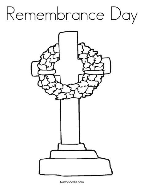 Remembrance Day Coloring Page Twisty Noodle Remembrance Day