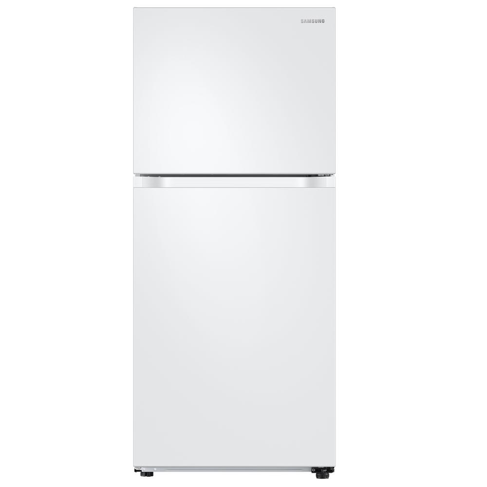 Samsung 17 6 Cu Ft Top Freezer Refrigerator With Flexzone Freezer In White Energy Star Rt18m6215ww Top Freezer Refrigerator Refrigerator Freezer