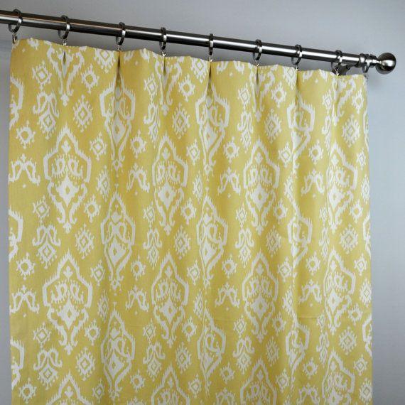 Saffron Yellow White American Southwest Raji Ikat By Zeldabelle