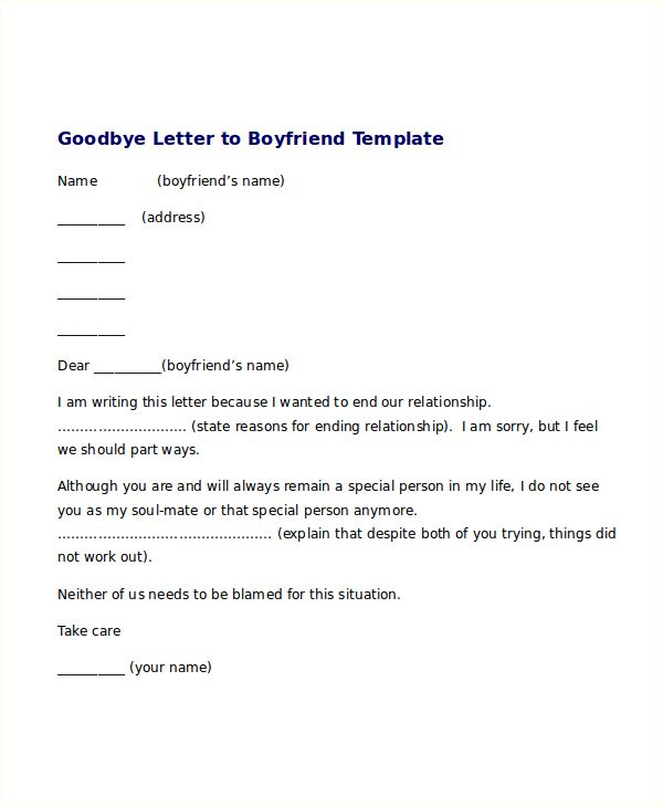 break letter template free word pdf document downloads hilarious - goodbye letter