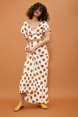 dc5754cbc25e Polka Dot Maxi Skirt