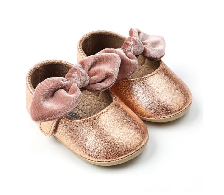 Gold Bow Shoes Zapatos Para Ninas Moda De Bebes Nina Moda Para Ninas
