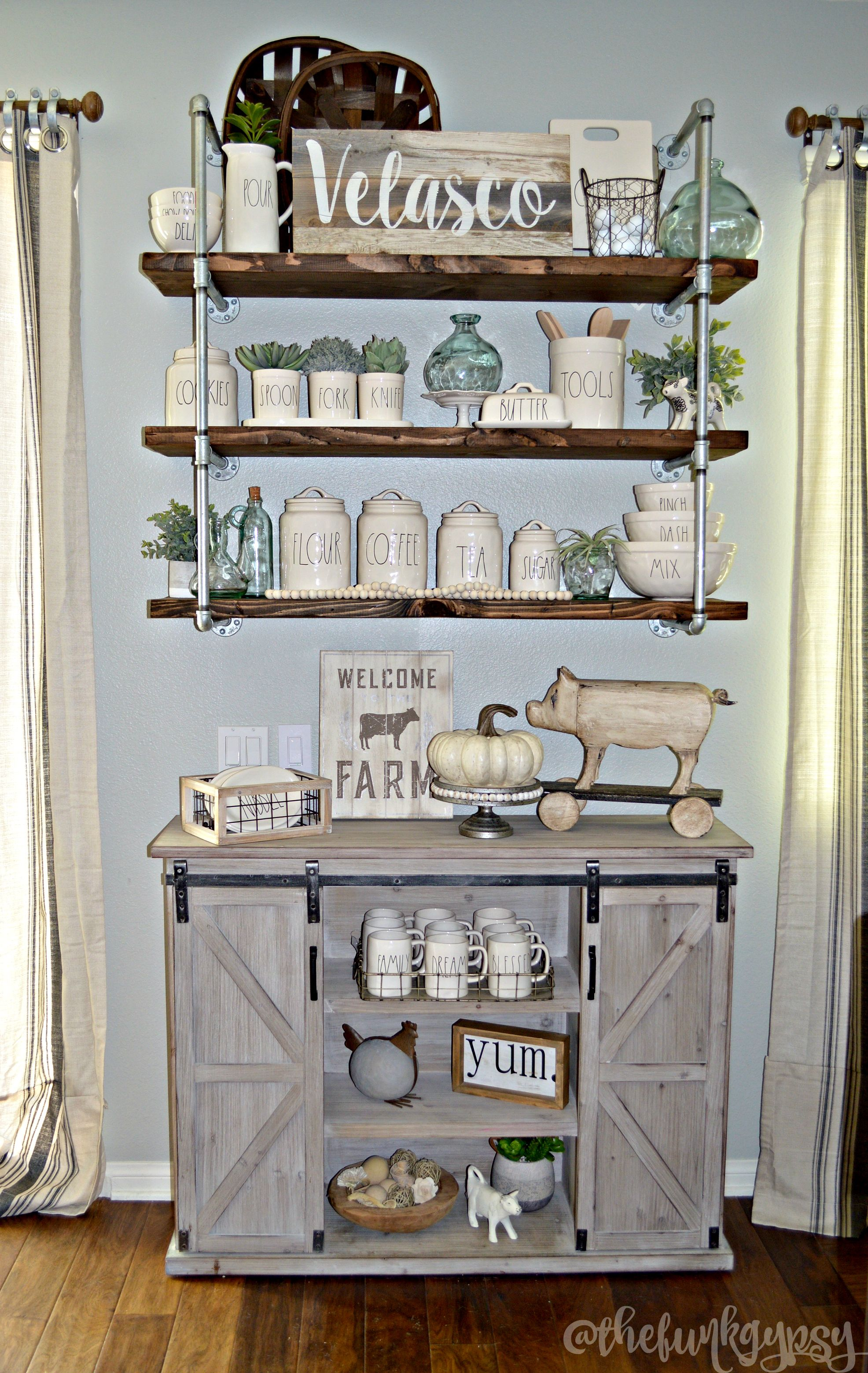 Beautiful Farmhouse Buffet Sideboard Cabinet From Kirkland S Featuring Rustic Elements An Array Of