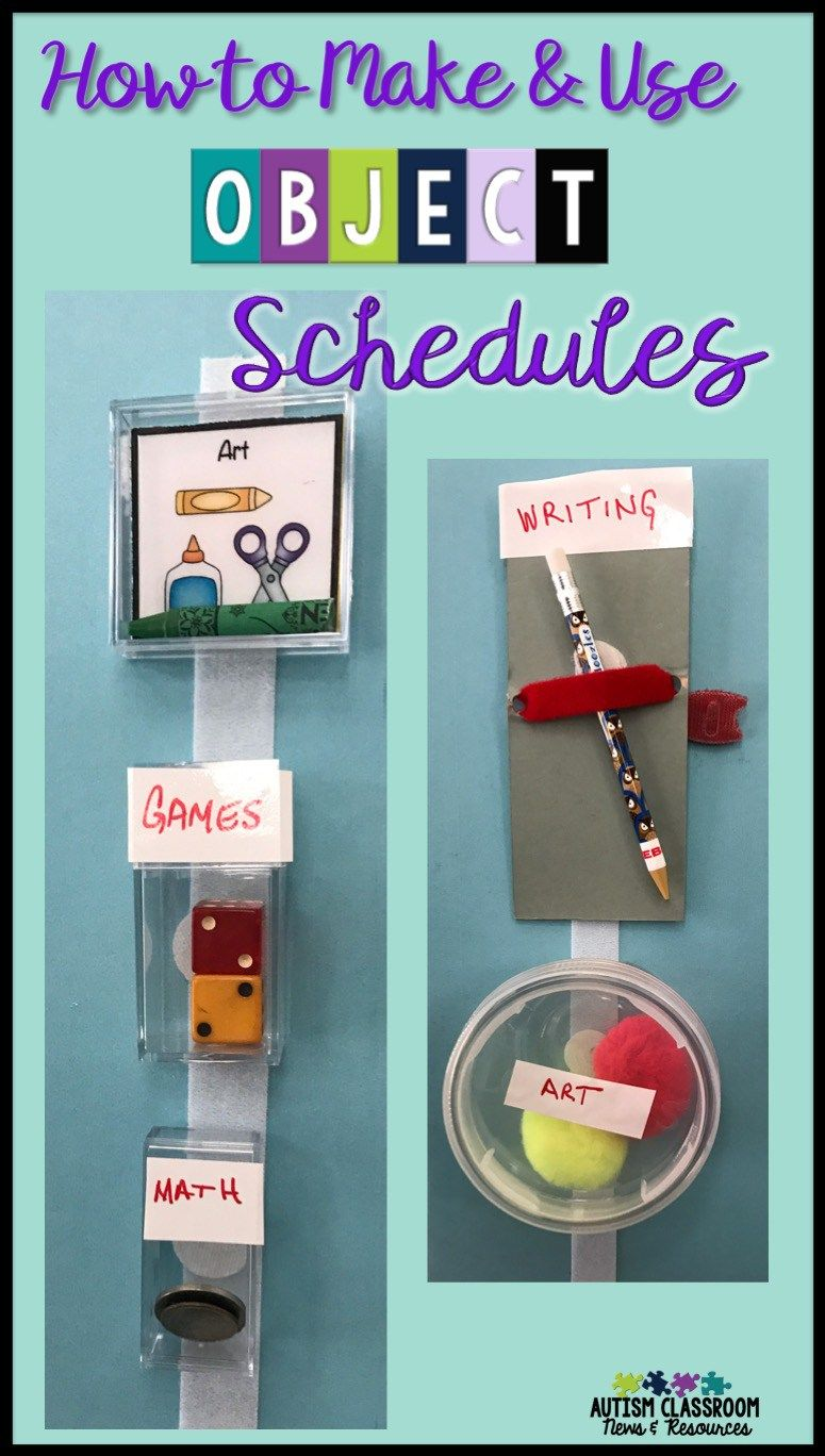 How to Make and Use Object Schedules | Middle & High School Special ...