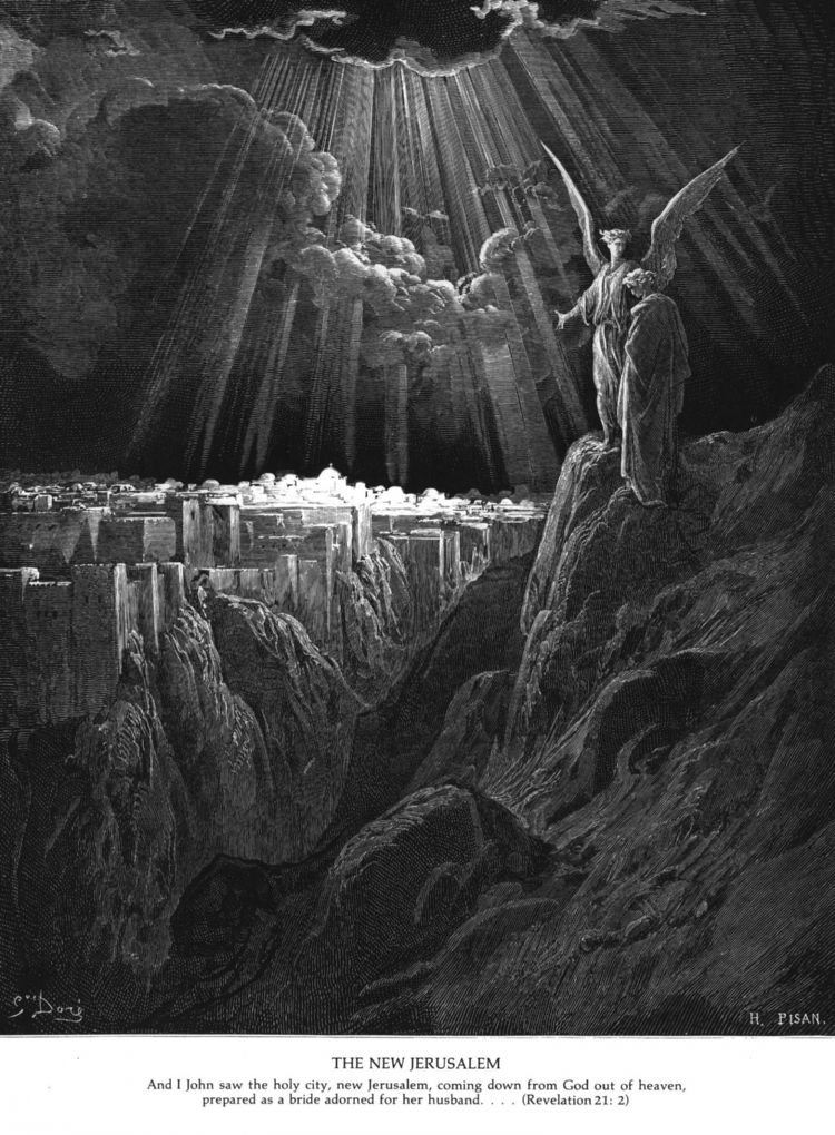 """The New Jerusalem"" The Book of Revelation, Gustave Dore, c 1850"