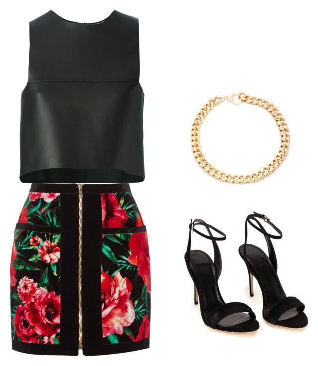 """""""Balmain outfit"""" by gabbylabarge on Polyvore featuring Balmain, Fendi and Alessandra Rich"""