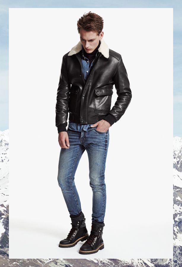 d85ed0acc4 The Kooples SPORT Man collection FW 2013-14 #leather #aviator #jacket #denim  #thekooples #sport
