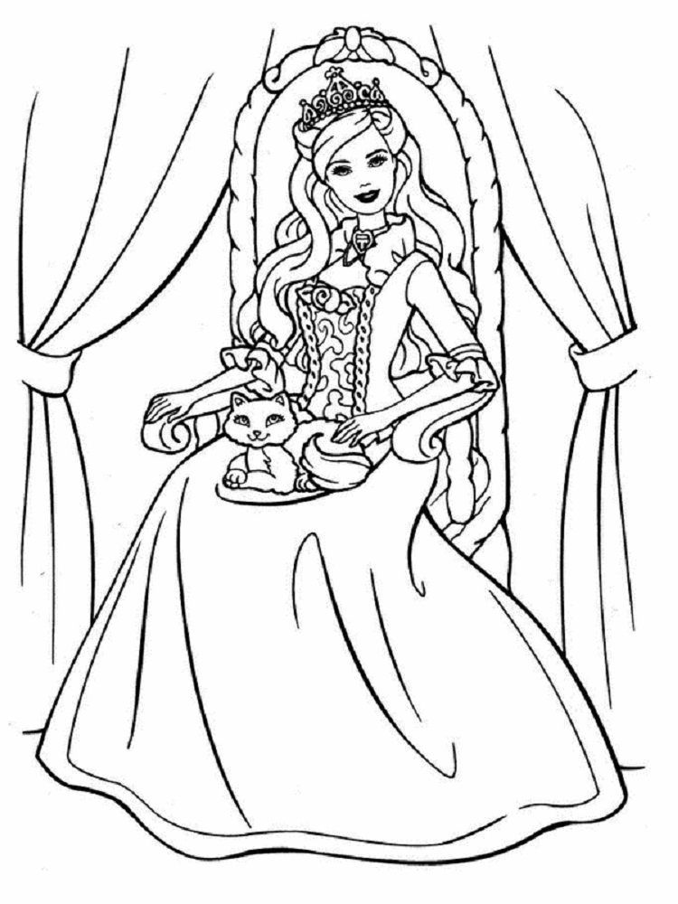 Barbie Easter Coloring Pages In 2020 Princess Coloring Pages