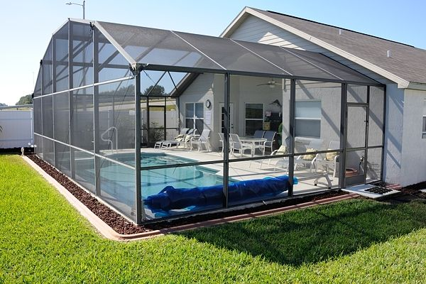 The Idyll Mouse One Rental House In Kissimmee Florida Indoor Pool Design Screened Pool Pool Houses