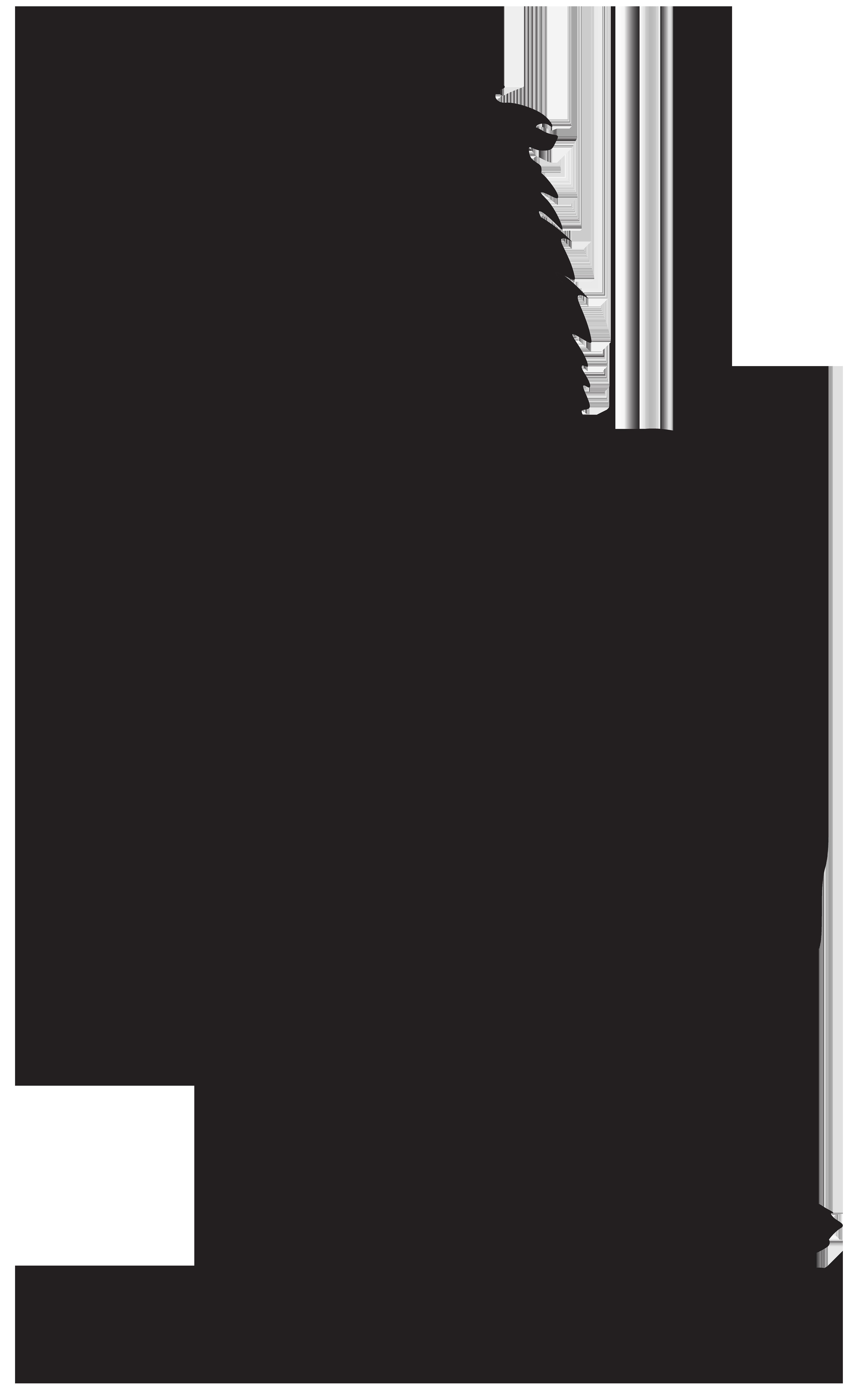 Lion Silhouette PNG Transparent Clip Art Image Lion