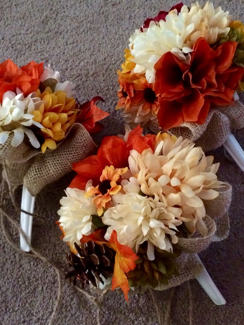 Diy bouquets fake flowers burlap and twine fall wedding diy bouquets fake flowers burlap and twine fall wedding fabulous diy wedding pinterest wedding flower and weddings dhlflorist Image collections