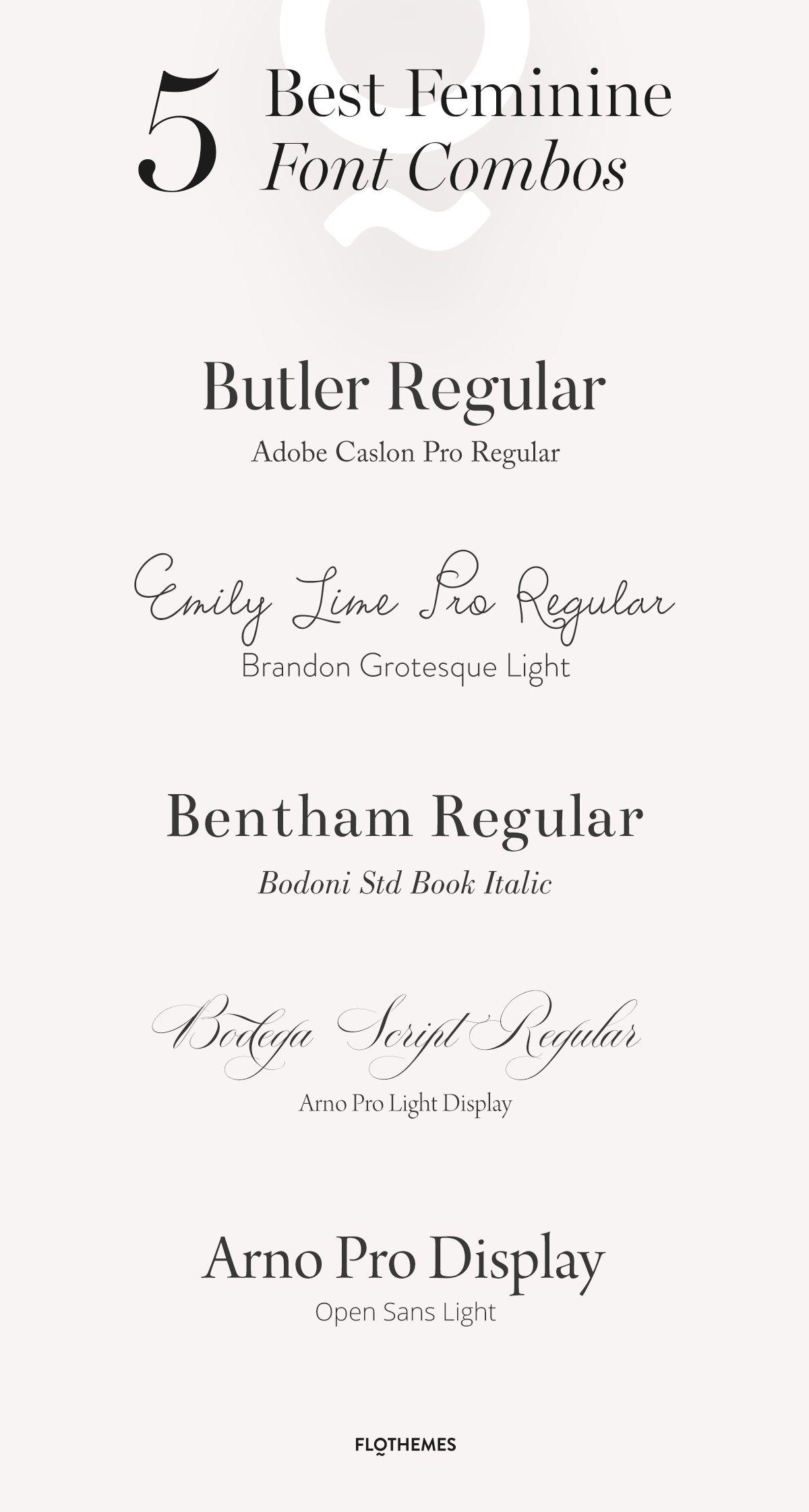 5 Best Feminine Font Combos #fonts #fontcombos