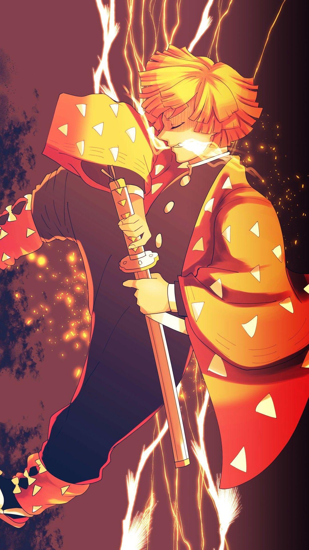 Zenitsu Anime Demon Samurai Anime Anime Wallpaper