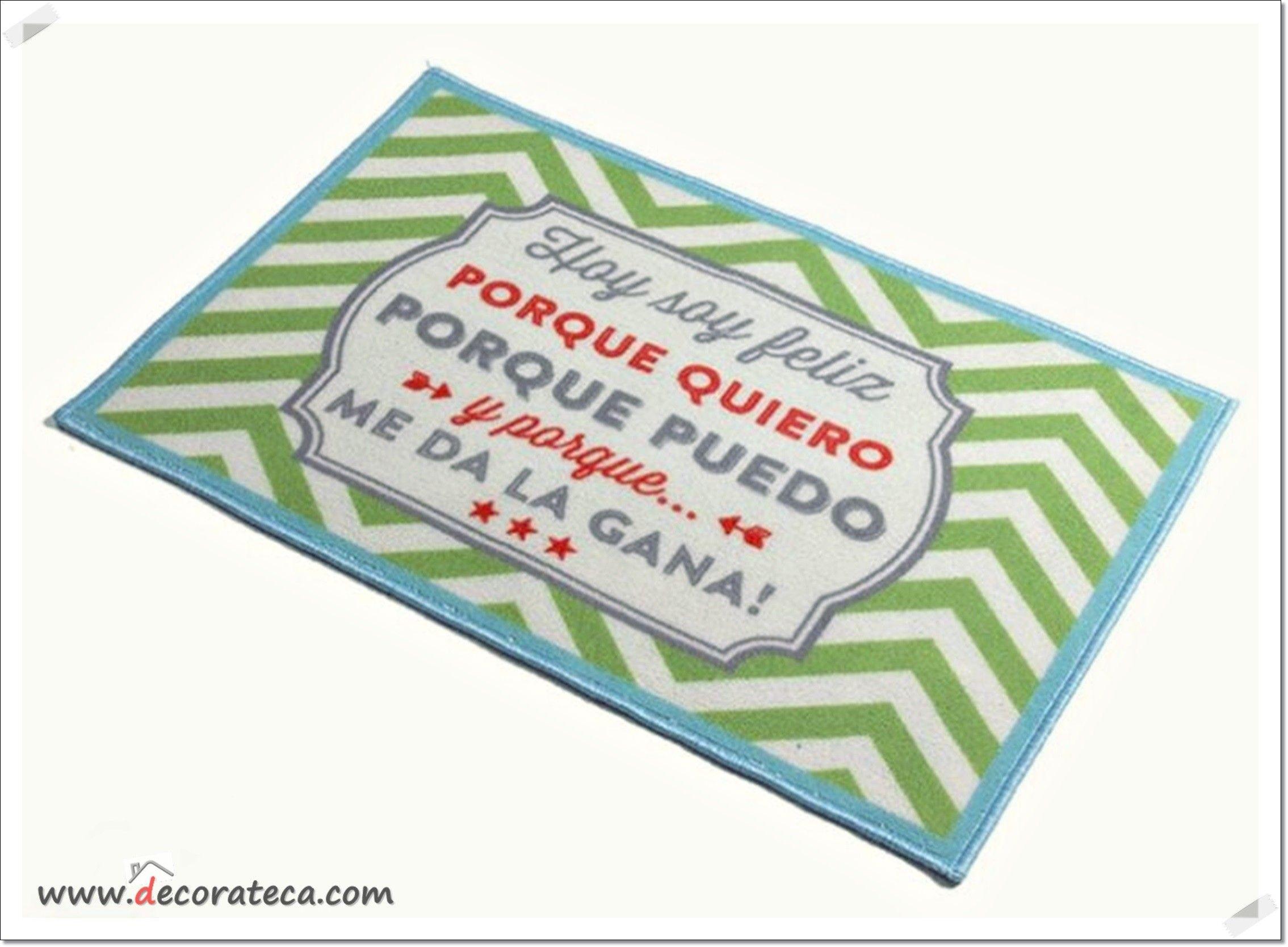 Original alfombra antideslizante hoy soy feliz porque - Alfombras bano originales ...