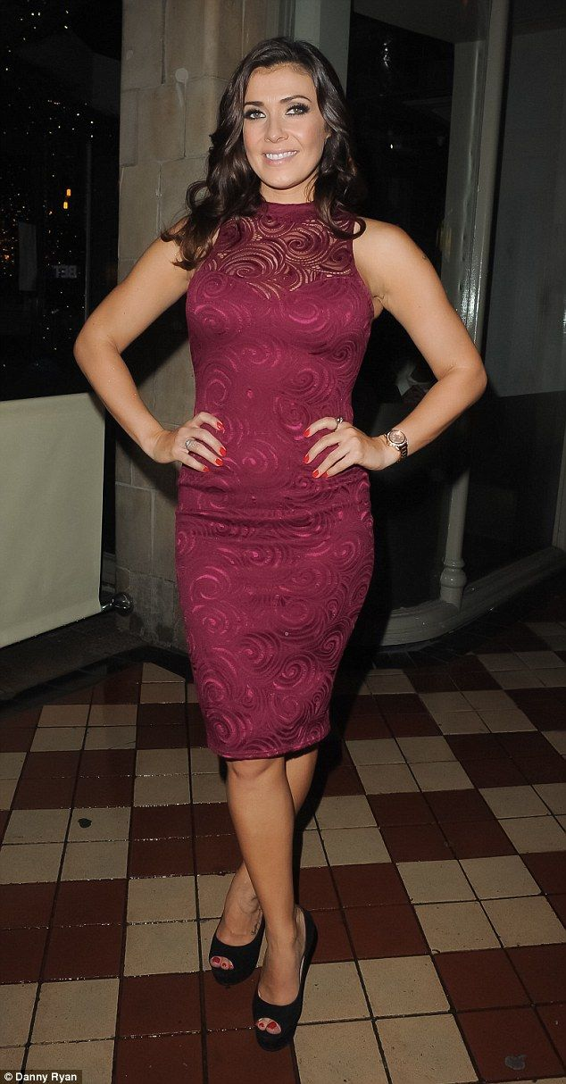 Leggy lady: The Coronation Street star teamed the look with black skyscraper stilettos, which elongated her slender, bronzed legs