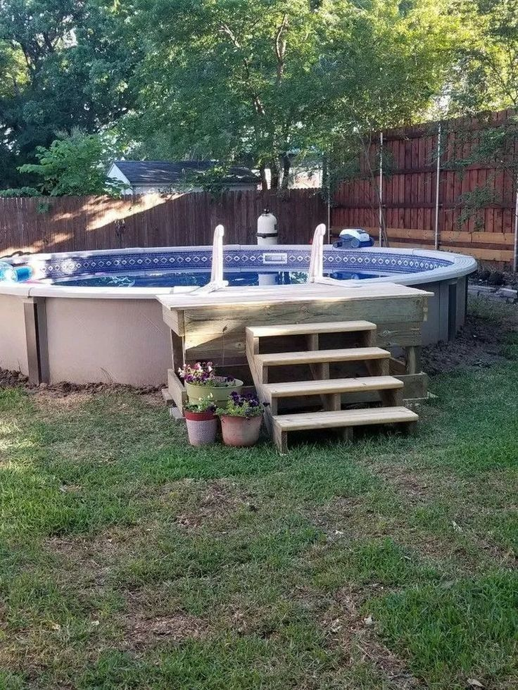 Diy Pool And Backyard Decorating Ideas Above Ground Pool Landscaping Diy Swimming Pool Above Ground Pool Decks
