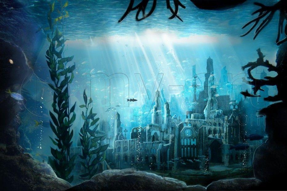 Ys The Lost Underwater City Underwater City Fantasy Art Landscapes City Art