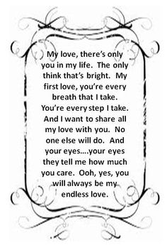 Endless Love Lionel Richie Love Songs Lyrics Great Song Lyrics Endless Love Quotes