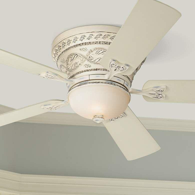 52 Casa Vieja Ancestry Led White Hugger Ceiling Fan 47m80 Lamps Plus Hugger Ceiling Fan Ceiling Fan With Light White Ceiling Fan