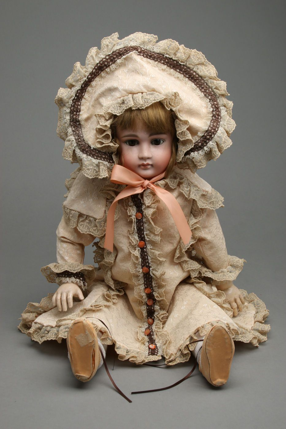 Antique Kestner 15 Doll Bisque Head Composition Body Pouty Mouth w Costume | eBay
