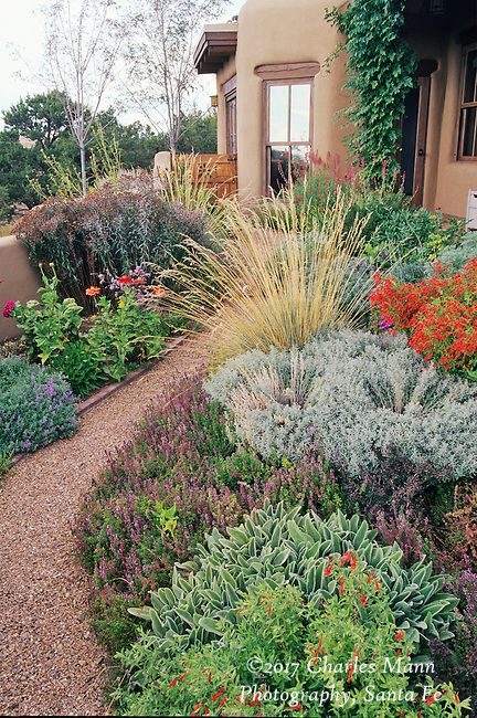 Wonderful A Colorful Xeriscape Garden Design By Susan Blake Of Santa Fe, New Mexico,  Features Many Beautiful Drought Tolerant Species, Including Zauschneria,u2026