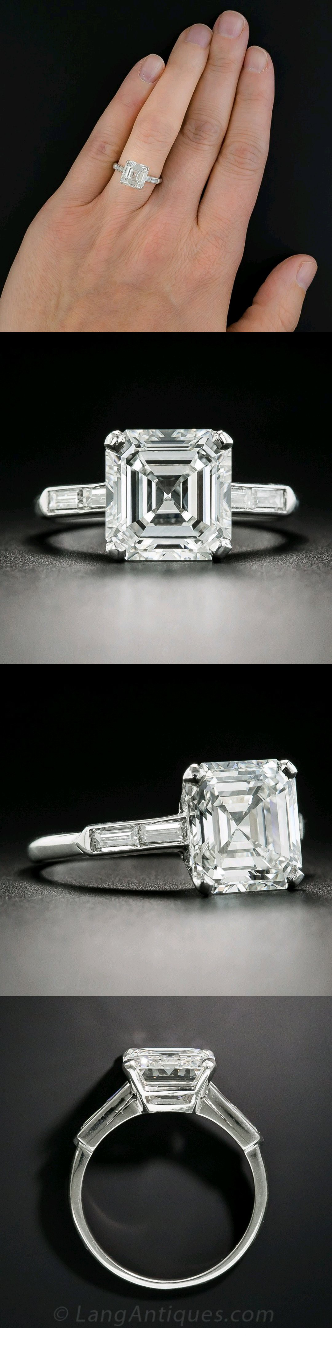 default ring asscher halo rhodium carat engagement set sterling zirconia cubic cut plated jewellery silver rings