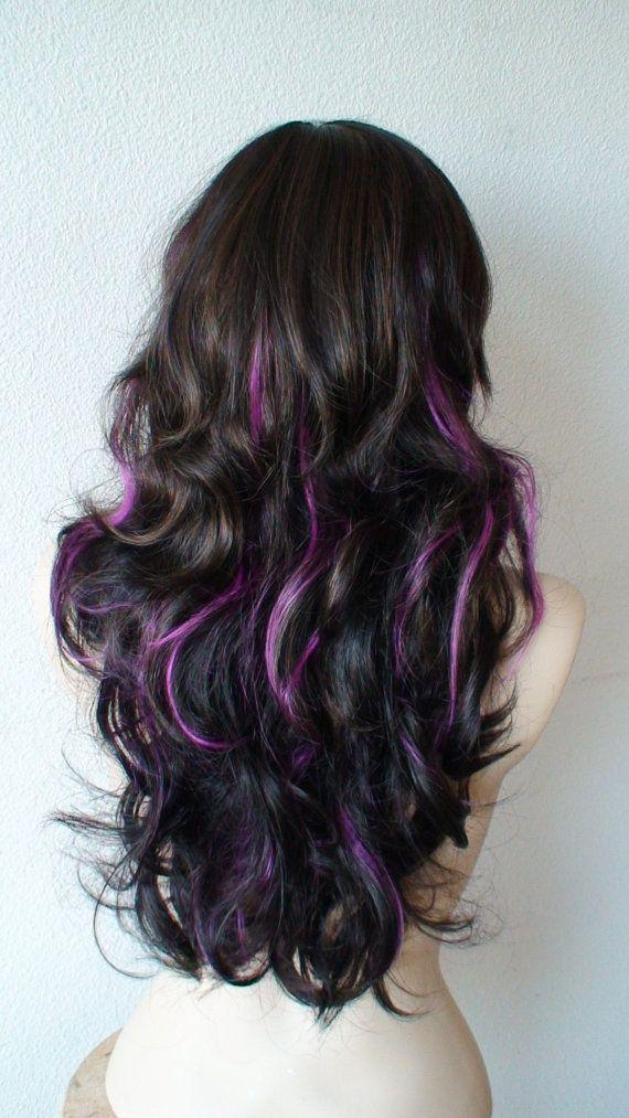 Pin By Amanda Higuchi On Cool Hair Purple Hair Streaks Hair Streaks Purple Hair