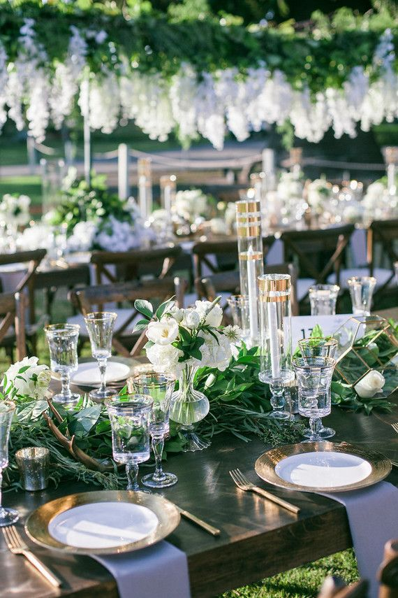 Green White And Gold Wedding Ideas Green Themed Wedding