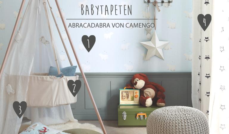 Babyzimmerideen bei Fantasyroom - Babyzimmer mit Camengo Tapeten gestalten