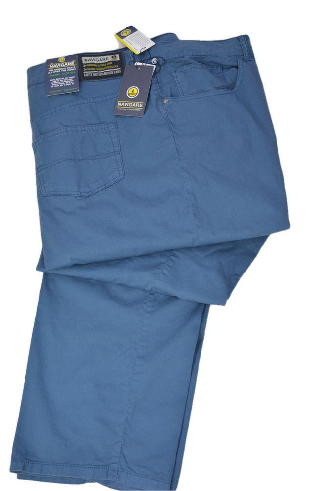 3e8b9ab4a5 Dettagli su Pantalone Uomo Estivo Taglia Grande Navigare 51295AD AL ...
